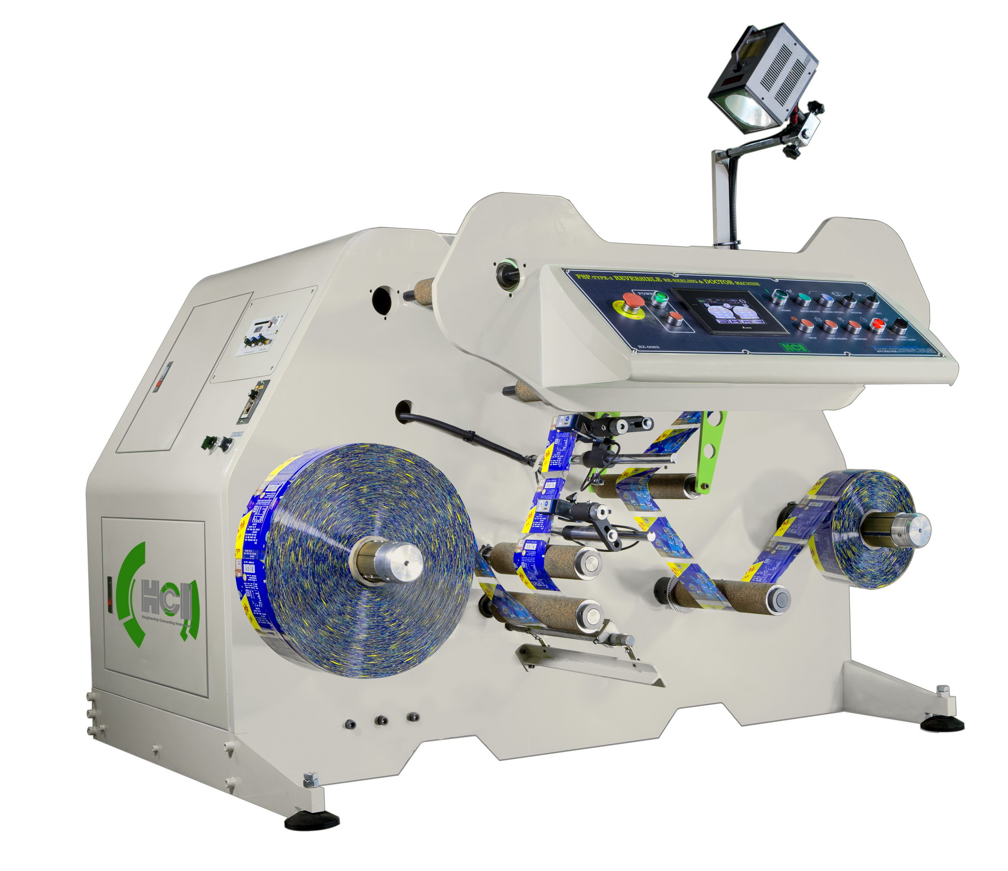 Sleeve Rewinding and Inspection Machine - Reversible