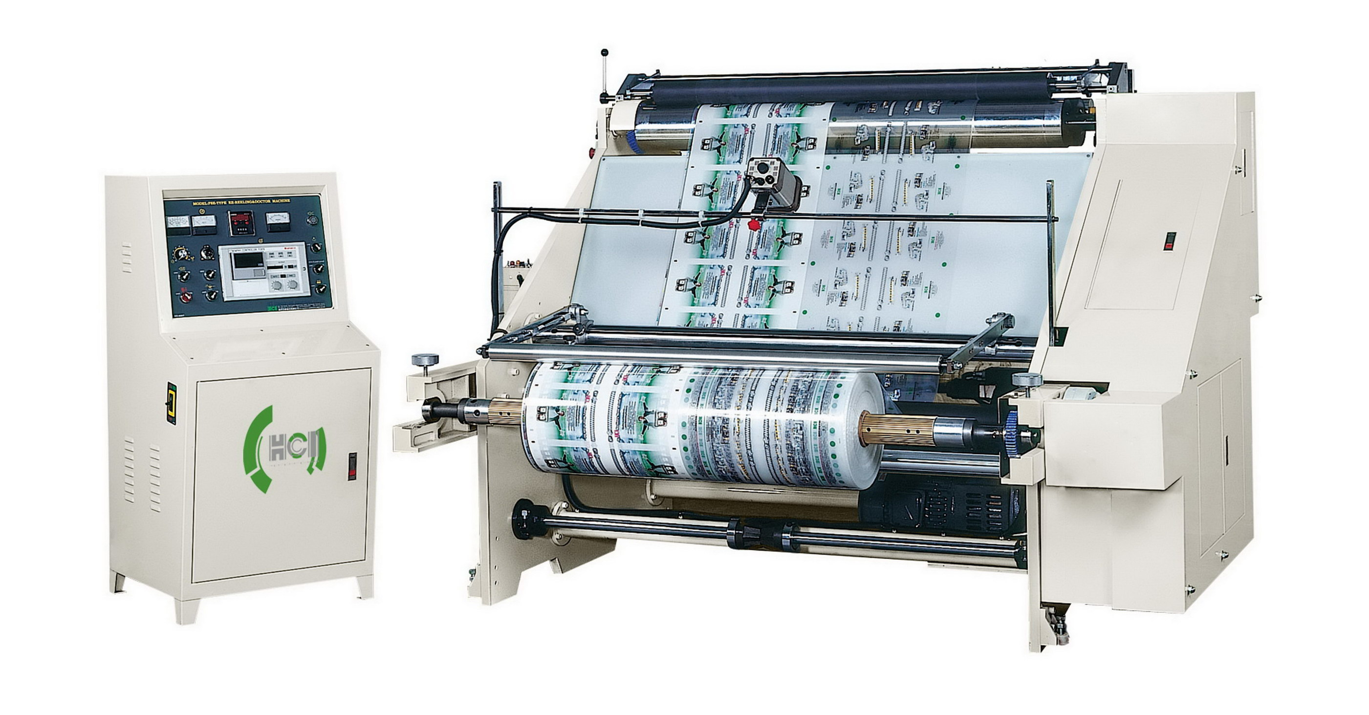 Doctoring and Rewinding Machine